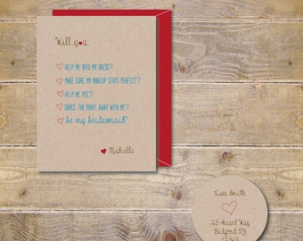 Will You Be My Bridesmaid Cards .  Will You Be My Maid Of Honor Cards . Bridesmaid Cards - The Perfect Dress
