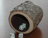 Wood dice cup - Choke Cherry