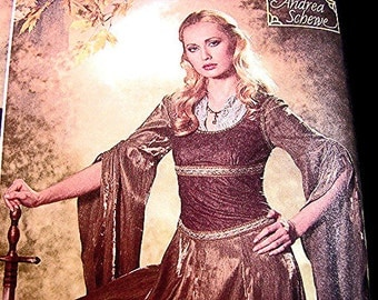 Womens Medieval Renaissance Costume Gown Dress Pattern Simplicity Costume Misses Adult size 10 12 14 16 18 UNCUT