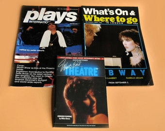 1985 London Theatre Magazines