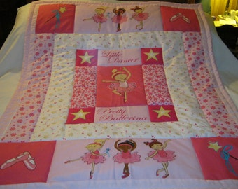 Baby Little Dancer Pretty Ballerina Baby/Toddler Quilt-NEWLY MADE