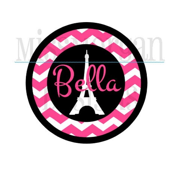 Personalized Birthday Paris Themed Iron On Decal By Missmorgan