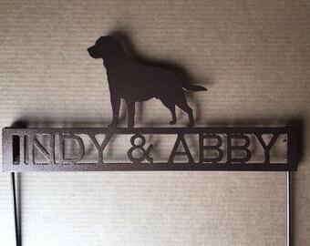 Labrador Retriever Metal Garden Stake with Personalized Text Field (X28)