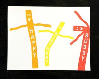 Air Dancer / Birthday letterpress card