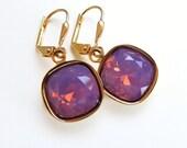 Lavender Opal Crystal Earrings - Cyclamen Opal - designed with SWAROVSKI® Crystals