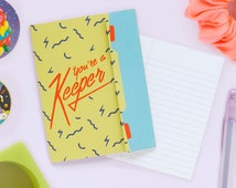 You're a Keeper - Retro Folded Trapper Keeper Greeting card