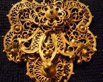 Vintage Indo Craft Brass Clip