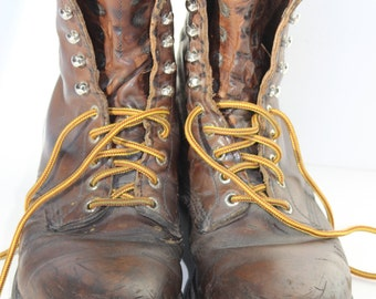 Vintage Red Wing Work Boots Size 11 Leather Irish Setter