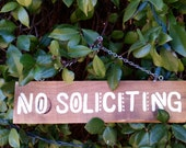Hand Painted No Soliciting Sign