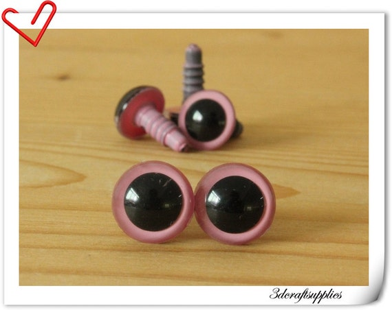 Safety Eyes Amigurumi Malaysia : 12 mm Pink Safety eye amigurumi eye doll eyes cat eye 16