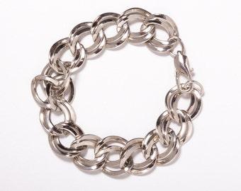 Rhodium Plated Vintage Silver Bracelet