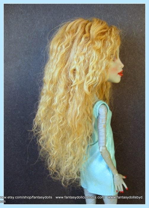 Как текстильной кукле сделать волосы из шерсти