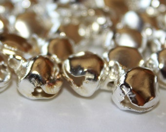 100 silver metal bells  Crafts jewelry sewing