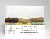 6 Pack of Beer Soap.  Build your own 6 Pack.  Made with Homebrewed Beer