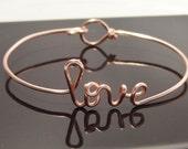 Love, name bracelet, bridesmaid gift, wedding party, dainty bracelet