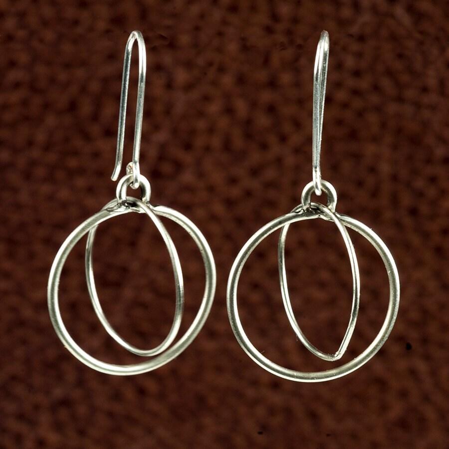 sterling silver double hoop earrings. Black Bedroom Furniture Sets. Home Design Ideas