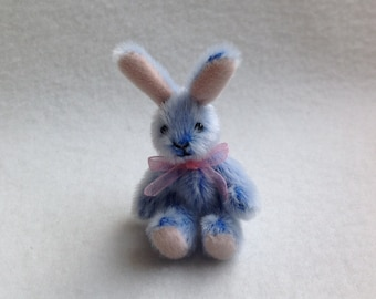 Miniature Jointed Artist  Bunny choose your colour - Made to Order