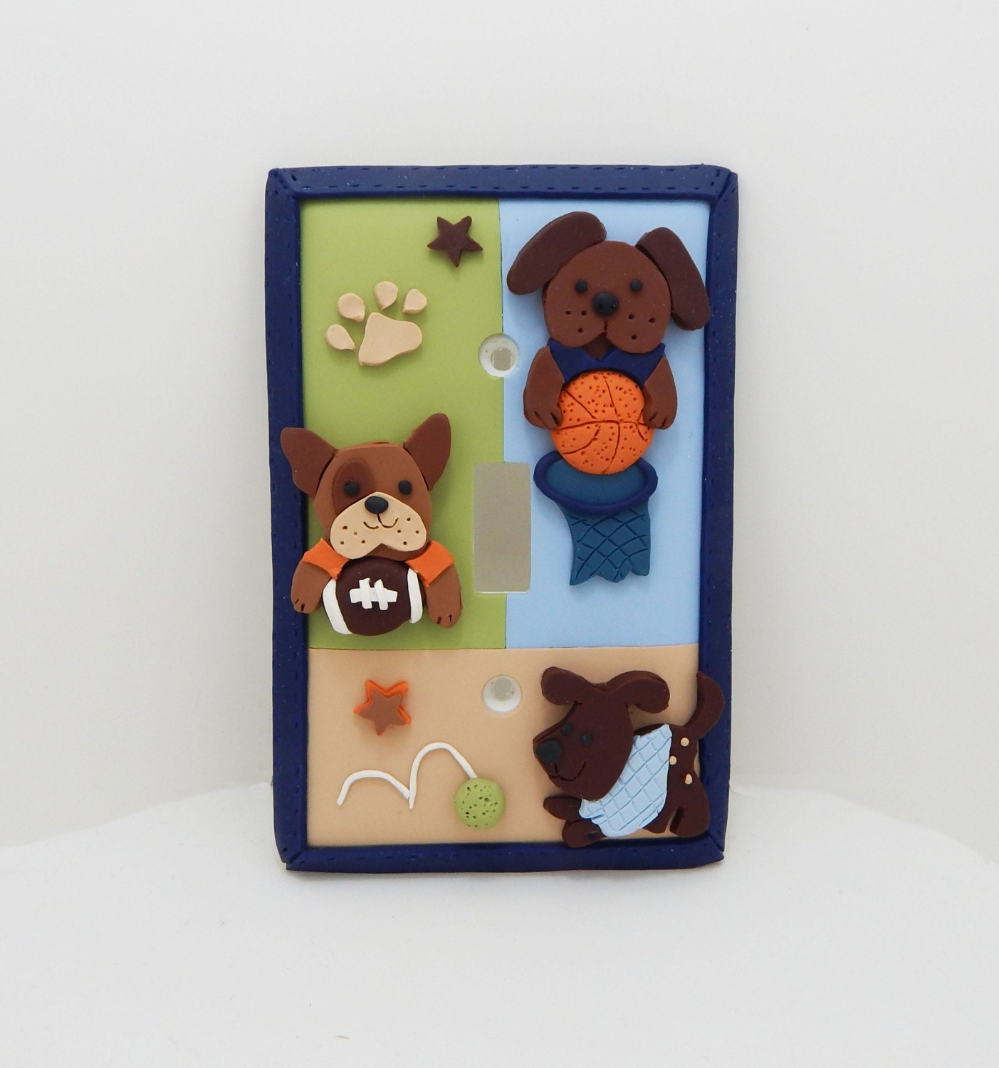 Dog Sports Light Switch Cover Or Outlet Cover Childrens