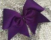 Custom Cheerleader Purple Cheer Hair Bow