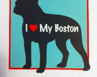 I Love My Boston Bodysuit/I Love My Boston Baby Clothes/Boston Terrier/Baby clothes