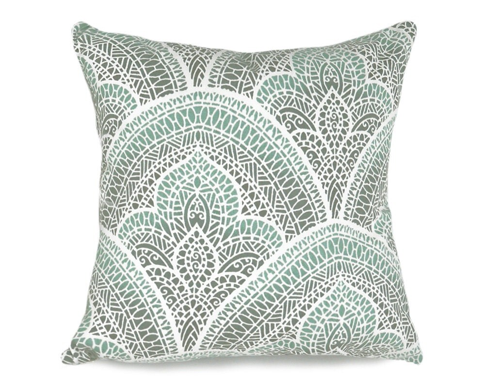 Throw Pillows Malum : Moroccan Pillow Cover Aqua Decorative Throw Pillows Grey