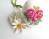 Felt Easter Egg,Needle felted egg,Spring Ornament,needle felted ornament,Easter