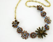 Tutorial - Bead Jewelry PDF Pattern - Flower Petal Necklace