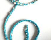 Trim, braid, braid trim, turquoise, light blue, gold, white, trims, fabric trim, ribbon, card decoration, 1 yard, 90 cm, 3/8 inch wide, 1 cm
