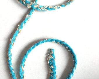 Trim, braid, braid trim, turquoise, light blue, gold, white, trims, fabric trim, ribbon, card decoration, 1 yard, 90 cm, 3/8 inch wide, 1 cm