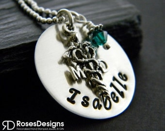Personalized MD Necklace, Medical Doctor, Handstamped Jewelry, Medical Necklace, Personalized Gifts, by RosesDesigns