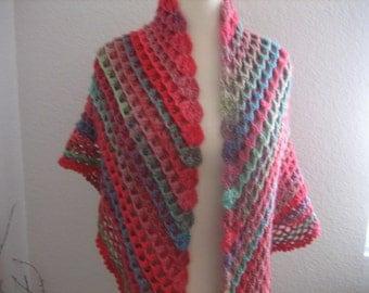 crochet shawl,fabulous colored, lacy, 3 dimension, superb quality, fancy, sooooooo beauiful, new, for women, winter fashion