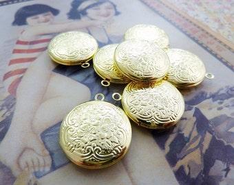 Gold Plated Brass Locket 20mm