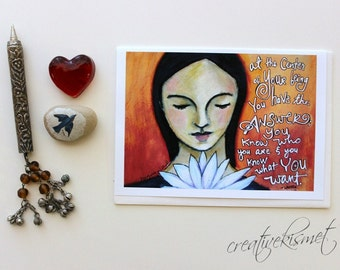 You Have the Answer - 5x7 Art Card with Envelope