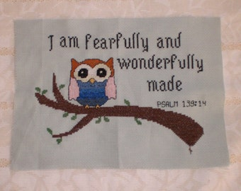 Fearfully Made - counted cross stitch chart - downloadable chart