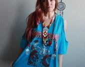 Blue V Neck Grateful Dead...
