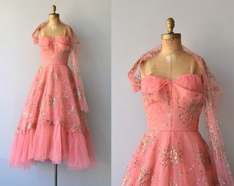 Fool's Gold dress | vintage 1950s dress • formal 50s dress