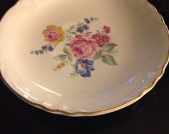 vintage rose saucer no cup no maker mark