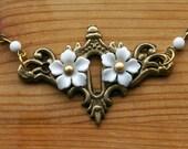 Victorian Orchid Secret Garden Necklace