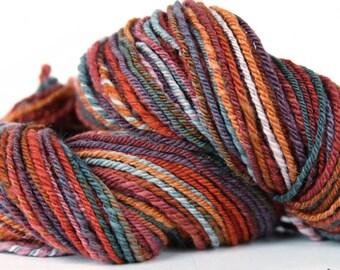 Firebrand 160 yards [Handspun] - Polwarth Wool Yarn, Chain Plyed