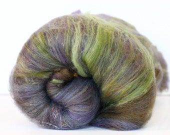 Smoke Bush 3.4 oz  Wool - Merino Mixed Art Batt // Wool Art Batt for spinning or needle felting