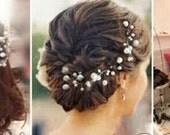 Pearl hair pins x 6 pearl wedding bridal pins wedding hair accessories