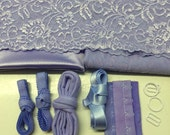 Hand Dyed Bra Making Kit Pale Violet DISCOUNT