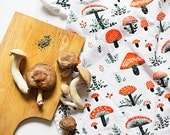 "Mushroom TeaTowel 100% cotton, 20""x30"", comes in a gift packaging with a complimentary recipe card"