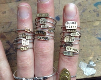 Custom Stamped Ring