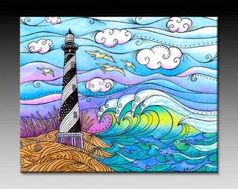 Hatteras Waves Ceramic TIle Wall Art