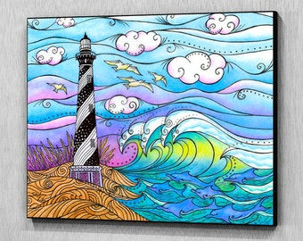 Hatteras Waves Wall Panel