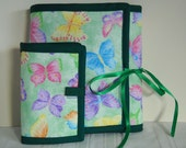 Bright Butterflies Sewing Caddy Organizer Duo