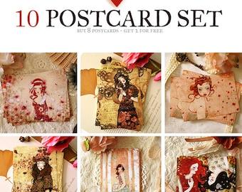 Postcard Set - Buy 8 postcards - Get 2 for free