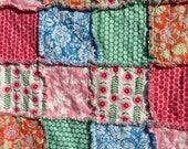SALE Rag Quilt with Jennifer Paganelli Jenny Eliza Fabrics Lap/Throw Size Reversible ready to ship OOAK