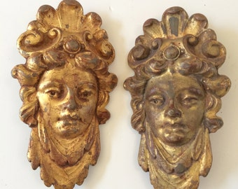 Antique bronze muses gold leaf over Bronze from France